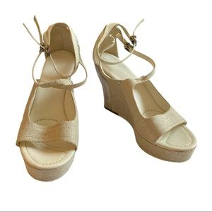 Jill Sander Platform Wedge Tan Sandals
